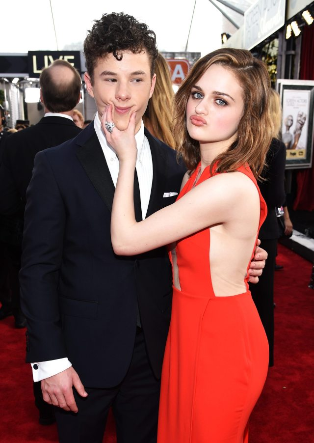 Nolan Gould with Joey King at the Screen Actors Guild Awards 2016