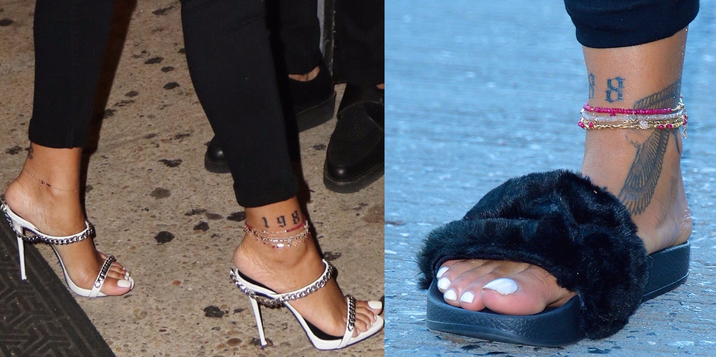 Rihanna Toes: Rihanna Shoe Collection, Feet And Shoe SIze