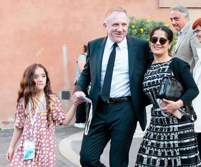 Salma Hayek with Family