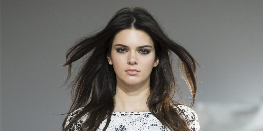 Kendall Jenner walks the runway as the Diane Von Furstenberg Spring 2015 collection is modeled during Fashion Week, Sunday, Sept. 7, 2014, in New York. (AP Photo/John Minchillo)