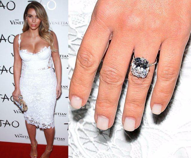 kim engagement ring Kanye