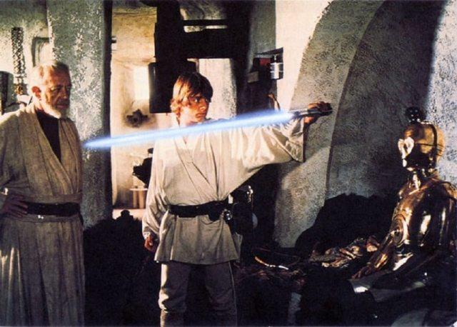 Mark hamill as Luke Skywalker in 1977