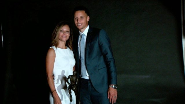 Sonya Curry and Stephen Curry
