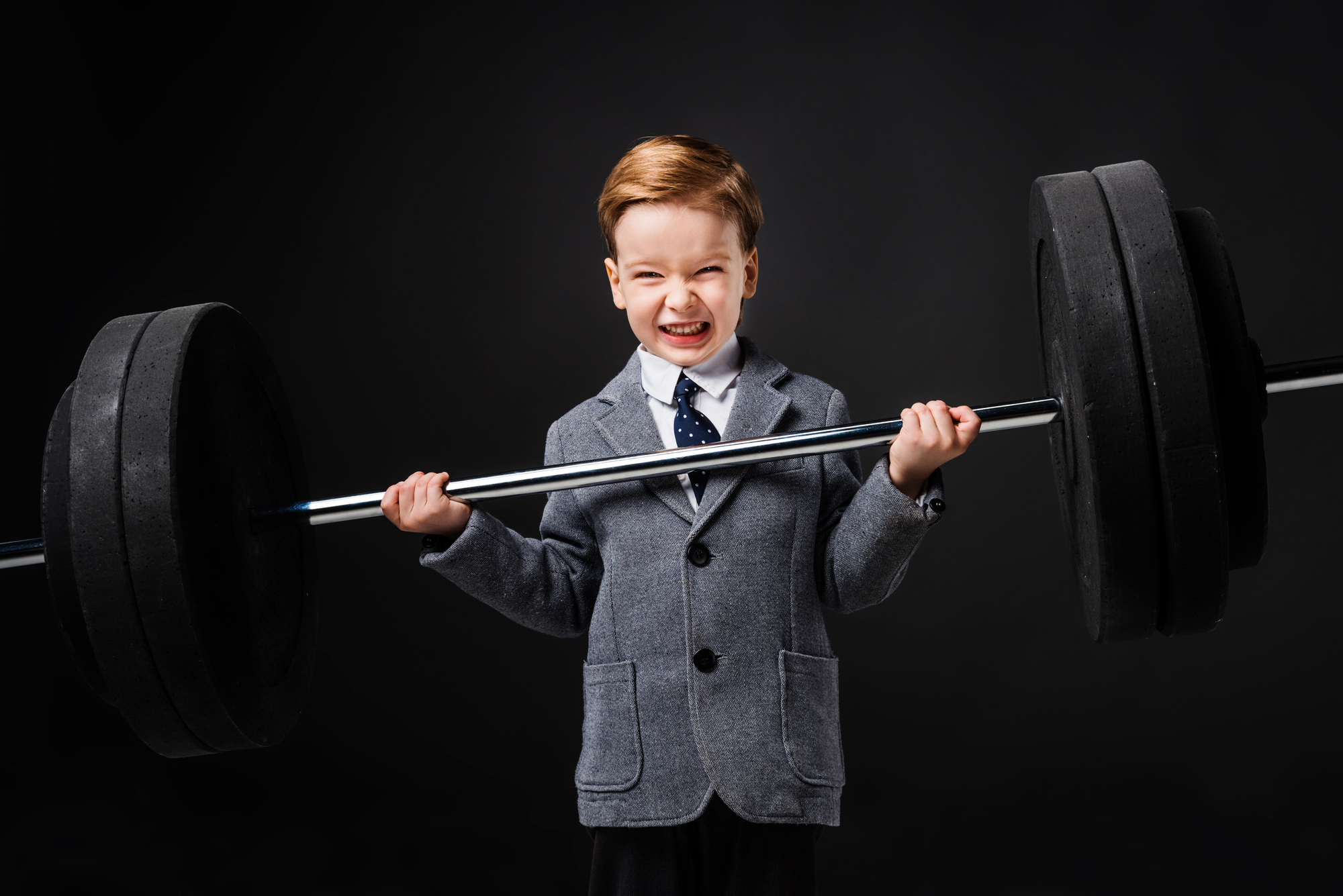 12-year-old lifting weight stunt