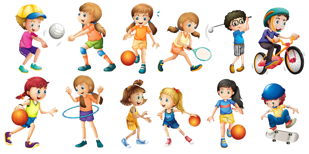 many different sports cartoon