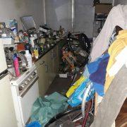 Vervuilde woningontruimen keuken