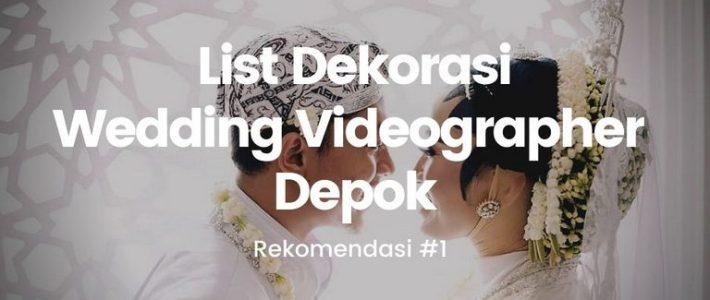 wedding videographer depok
