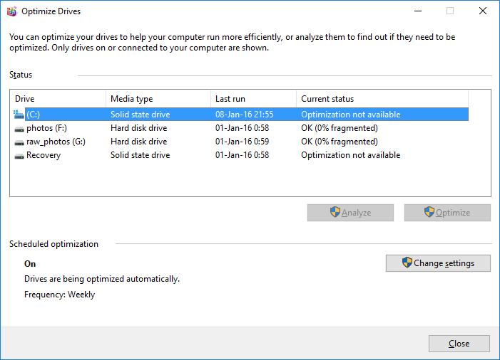 SSD optimization
