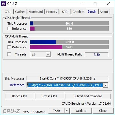 Windows 10 VM CPU benchmark