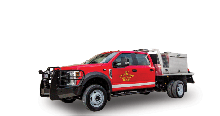 Heiman Fire Wildland Brush Truck for Cleveland North Dakota Rural Fire Dept