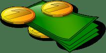 Verdientes Geld: Geldscheine und Münzen