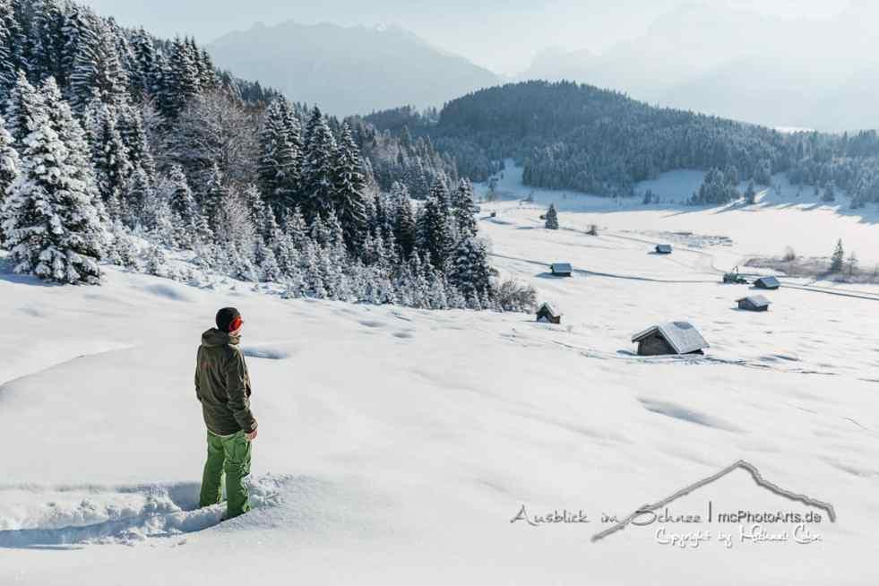Ausflug zum verschneiten Geroldsee