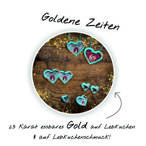 Goldene Zeiten – 23 Karat essbares Gold auf Lebkuchen + Lebkuchenschmuck