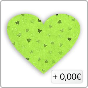 Herzen grün