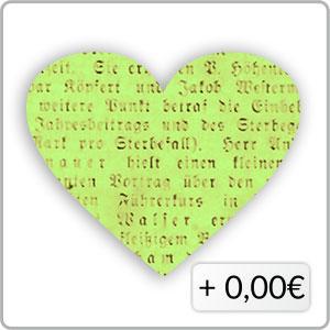 Schrift grün