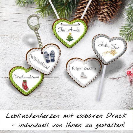 Lebkuchenherzen Weihnachtskollektion 4,5 cm