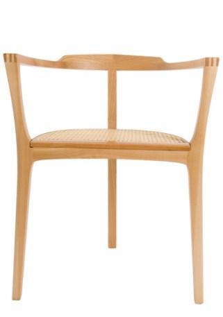 Stuhl Holz mit Sitzgeflecht