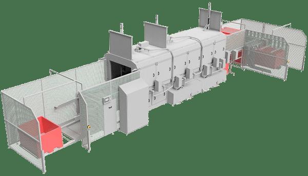 Behälterwaschanlage & Kutterwagen Waschanlage im Einsatz zur Reinigung