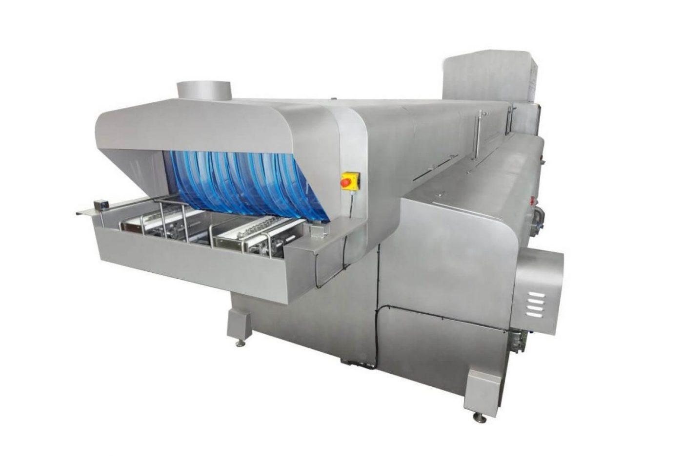 Maschine zur Reinigung von Paletten