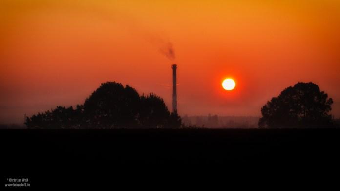 Sonnenaufgang über Polen.