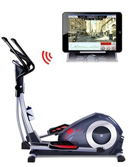 Sportstech CX620 Profi Crosstrainer mit Smartphone App Steuerung + Google Street View, Schwungmasse 21 KG, HRC - Bluetooth - 32 Widerstand Stufen - Heimtrainer Ergometer Ellipsentrainer Stepper -