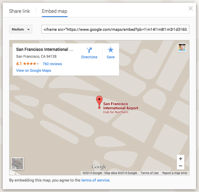 how to embed a Google map on a website