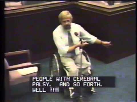 yt 9269 Historic EEOC video of Dr. Philip Calkins presentation on the ADA. 9111990 - Historic EEOC video of Dr. Philip Calkins' presentation on the ADA. 9/11/1990
