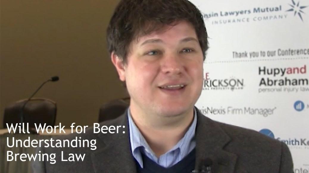 yt 9452 Will Work for Beer Understanding Brewing Law - Will Work for Beer: Understanding Brewing Law