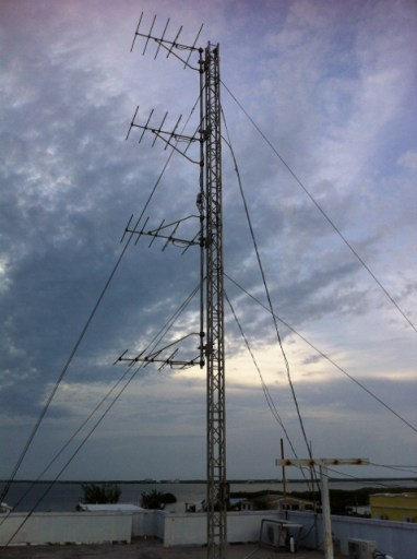 Antennas survives but moved by the powerful winds of Hurricane Earl.