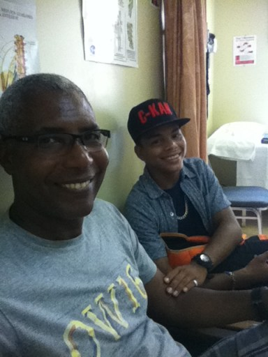 Miguel at his last doctor's appointment!