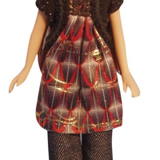 DP120 - 1:12th scale Dolls Houses Modern Woman in Smock Dress