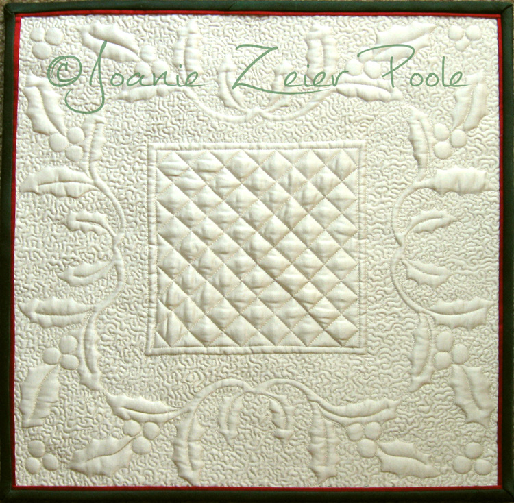 Joanie Zeier Poole Downloadable Holly Square Wholecloth Quilt Pattern