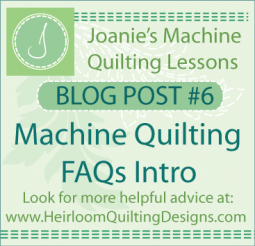 Answers to Machine Quilting FAQs