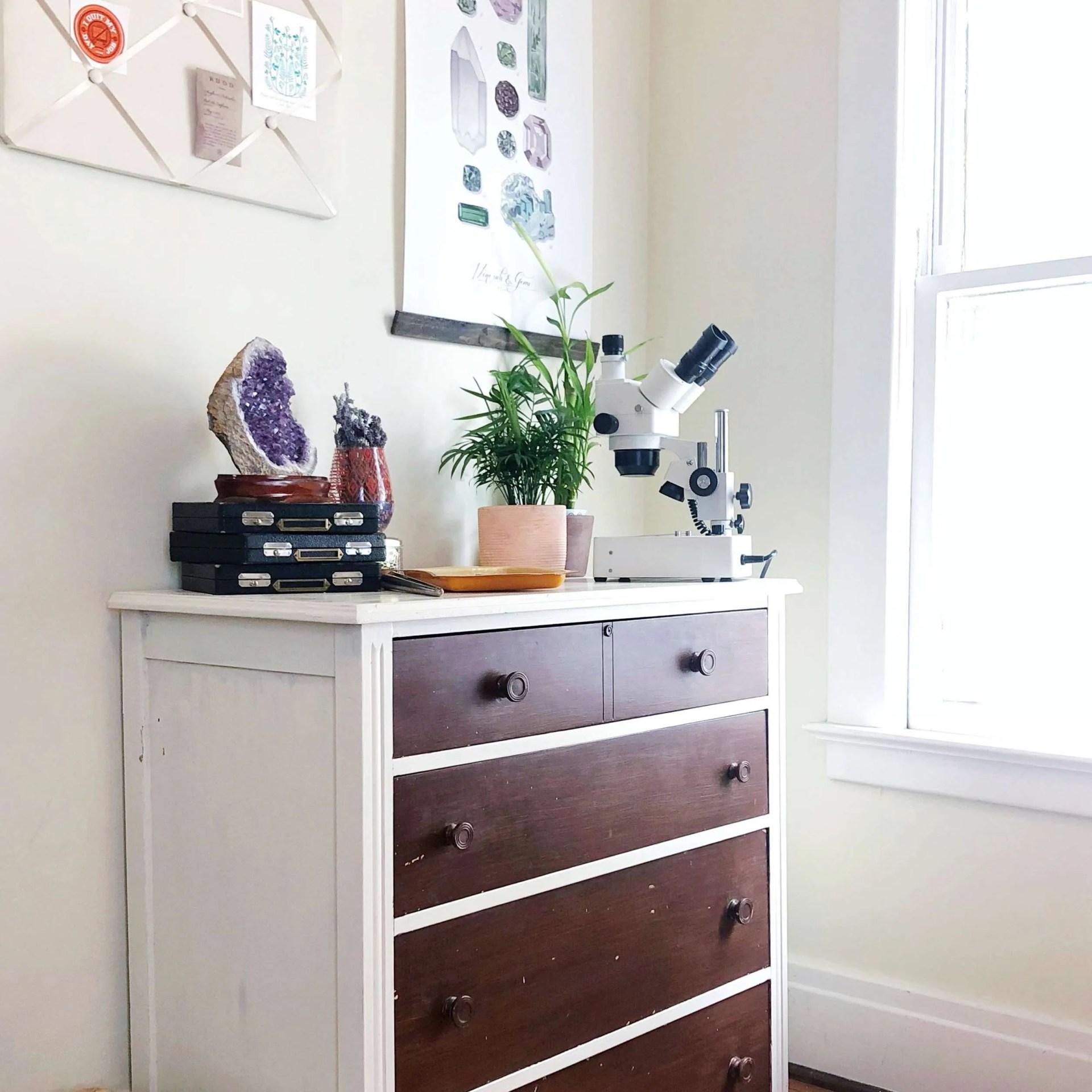 DIY dresser makeover - before and after