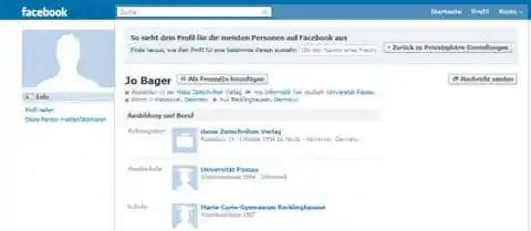 Ohne facebook freundschaft anschauen profil Private Nachrichten