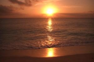 セイシェルの夕陽