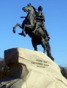 ピョートル大帝「青銅の騎士像」
