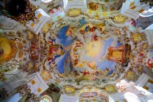 ヴィース教会の天井画