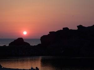 聖地出雲に沈む夕日
