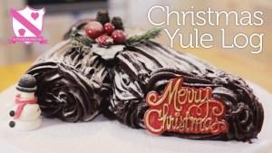 クリスマスケーキのユール・ログ