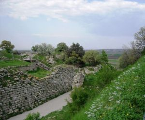トロイが繁栄していた頃の第6市の城壁