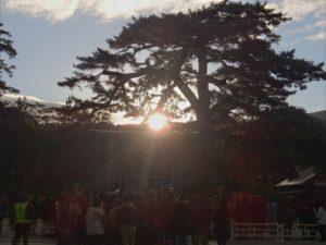 伊勢神宮の日の出