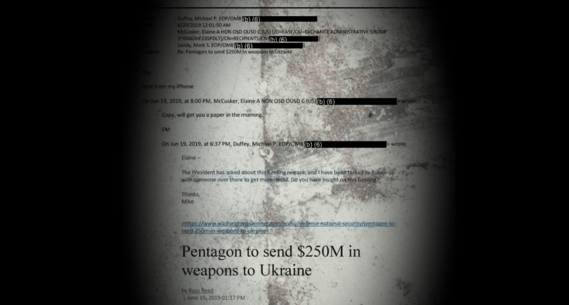 New, Heavily-Redacted Ukraine Documents Offer More Hard Evidence Of Trump's Ill Intent