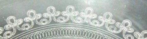 #9001 Trefoil needle etching, circa 1919