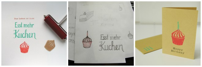 Collage Kuchen Poster