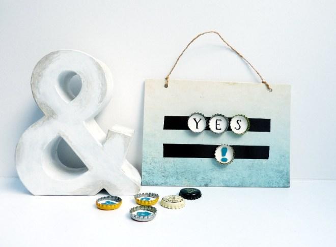 magnetische Buchstaben aus Kronkorken DIY