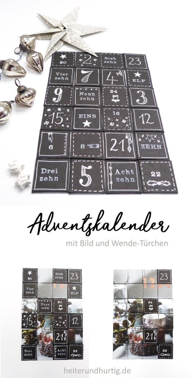 DIY Adventskalender mit Foto und Türchen zum Wenden