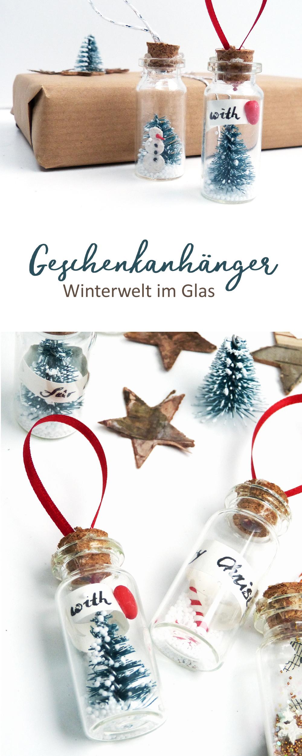 DIY Winterwelt im Glas. Mach deine eigenen Geschenkanhänger