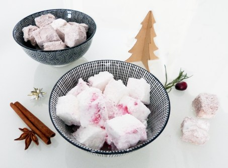 Lebkuchen und Cranberry Marshmallows Rezepts