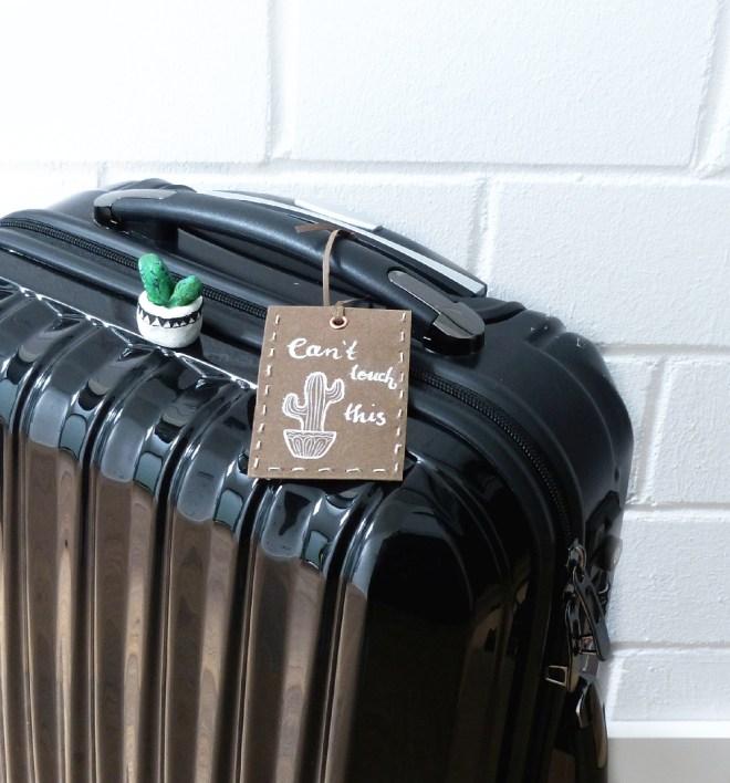 Anhänger an Koffer